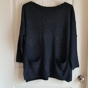 Slouchy loose front pocket sweater